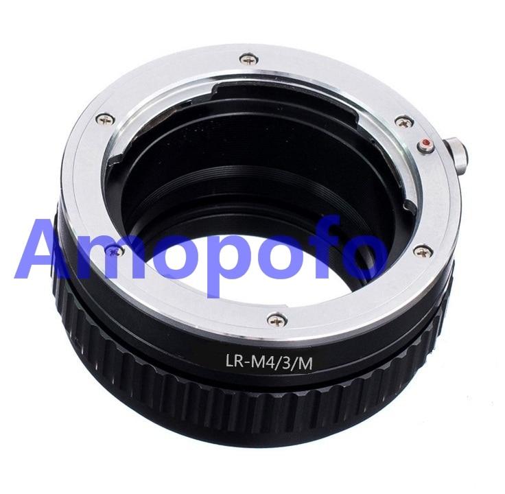 AMOPOFO Pour Leica R L/R Lentille pour Olympus OM-D E-M10 II E-M5 II E-M1 Caméra LR-M4/3/M macro mise au point hélicoïdale