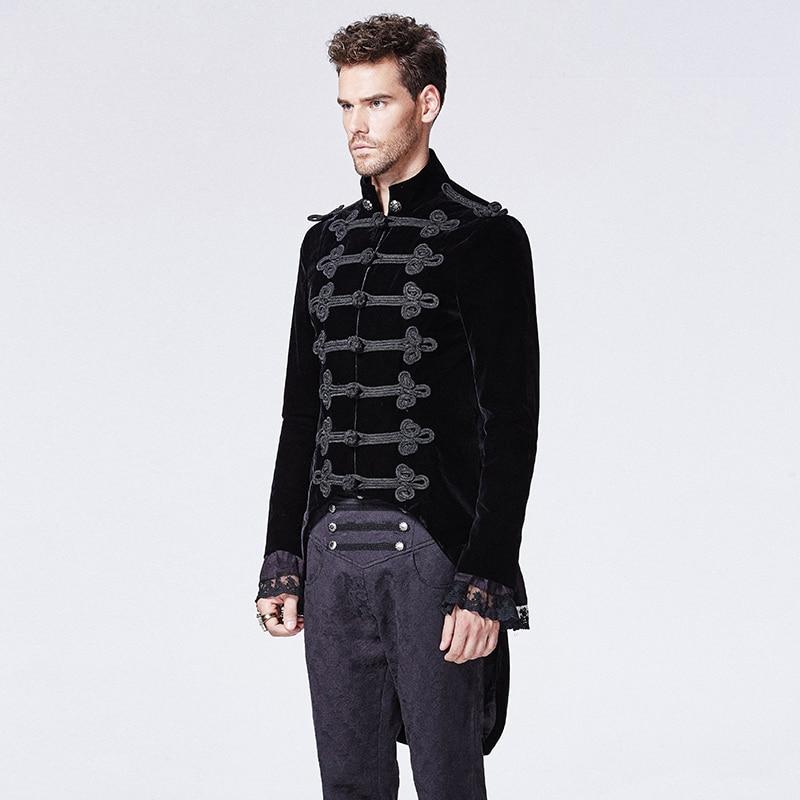 Gothic Black Noblemen Tailcoat met Chinese Knoop Knoop Victoriaanse - Herenkleding - Foto 2