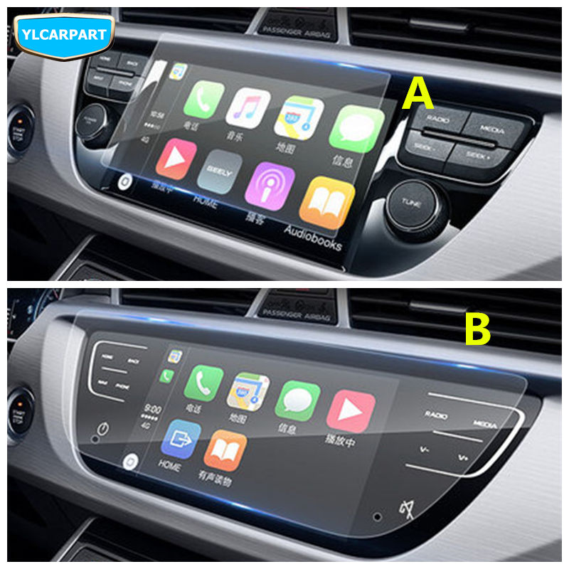For <font><b>Geely</b></font> <font><b>Atlas</b></font>,Boyue,<font><b>NL3</b></font>,SUV,Proton X70,Emgrand X7,GS,GL,Car DVD navigation screen display glass protective tempered film image