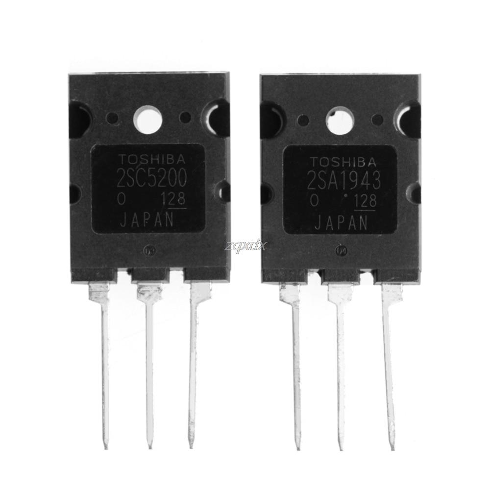 1 pair of A1943 C5200 2SA1943 2SC5200 High Power Amplifier Tube Z10 Drop ship