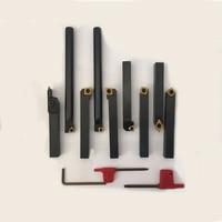 Carbide inserts turning tool 16mm 9pcs hard alloy lathe turning tool ti coated tips for lathe