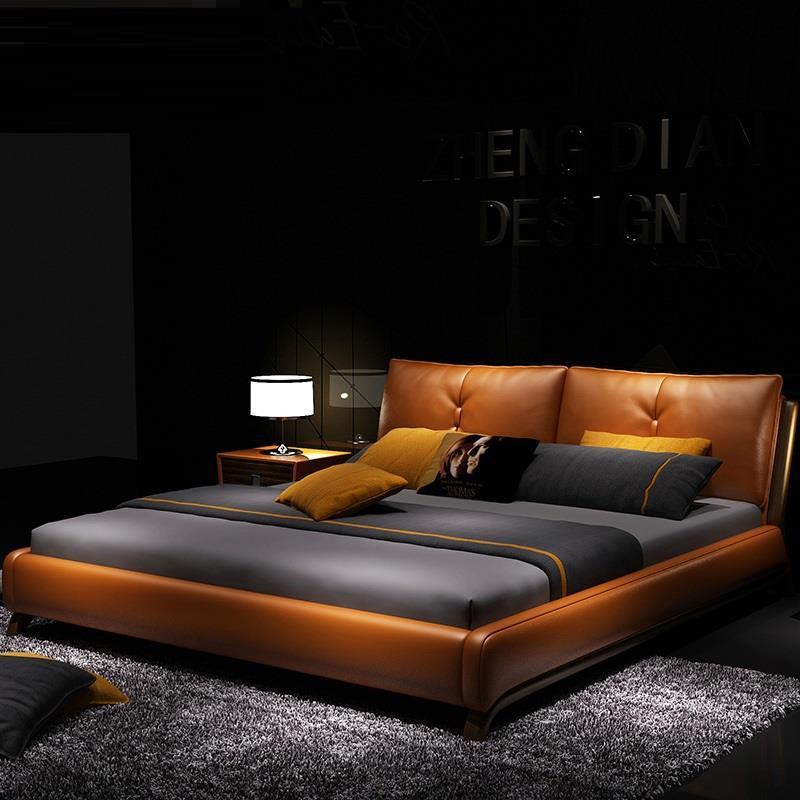 A Castello Frame Modern Bedroom Furniture Meuble Maison Odasi Yatak Letto Mobilya Leather De Dormitorio Moderna Cama Mueble Bed