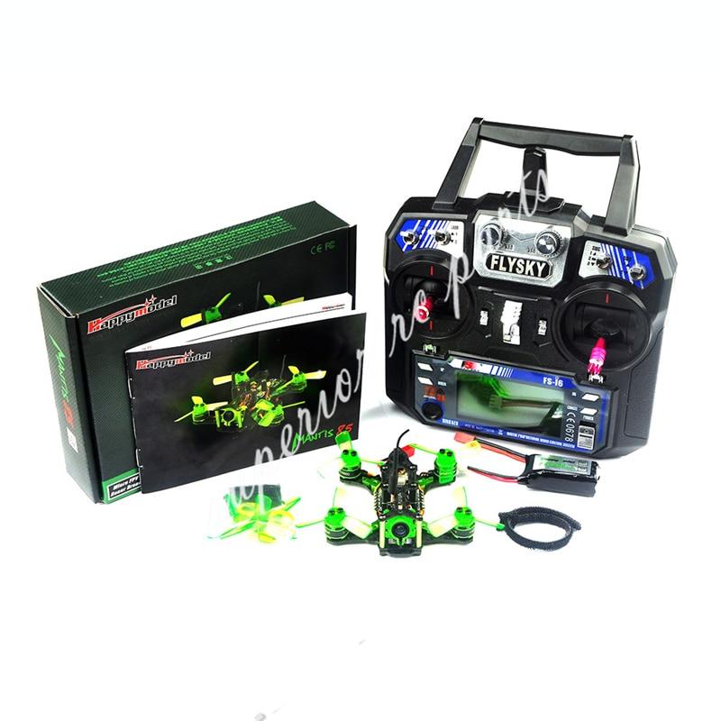 Happymodel Mantis85 85mm FPV Racing Drone w/Supers_F4 6A BLHELI_S 5,8g 25 MW 48CH 600TVL FS-I6 transmisor RTF