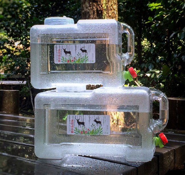 Water Tank Bucket 12L 18L 22L Outdoor Hiking Water Container PC Drinking System Camping Shower Equipment