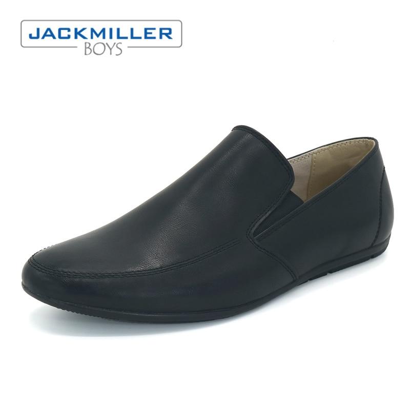 Jackmillerboys Kinderschoenen Jongens Schoenen Zwart Platte slip op - Kinderschoenen - Foto 1
