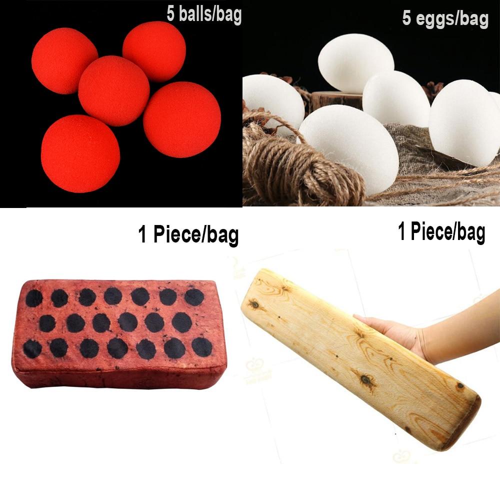 Sponge Eggs Bricks Wood Balls Magic Tricks Close Up Street Sponge Trick Easy Kids Children Toys Wholesale And Retail
