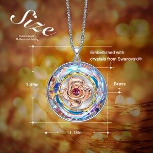 Image 4 - CDE collier dansant en Rose, orné avec cristal, pour femmes, collier I LOVE YOU gravé avec cristal, cadeaux pour la fête des mères