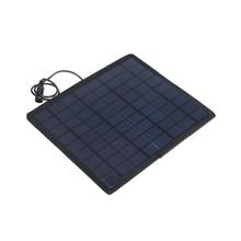 18 V 5 W портативная солнечная батарея зарядное устройство резервная солнечная панель для трактора лодки для автомобиля, мотоцикла автомобиля