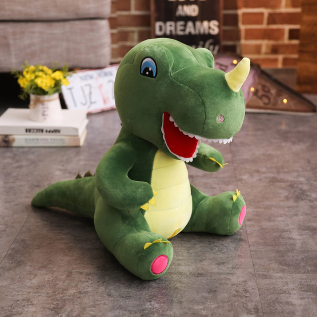 60cm/95cm Cartoon Dinosaur Plush Toys Unicorn Huge Tyrannosaurus Rex Plush Dolls Stuffed Toys For Children Boys Classic Toys