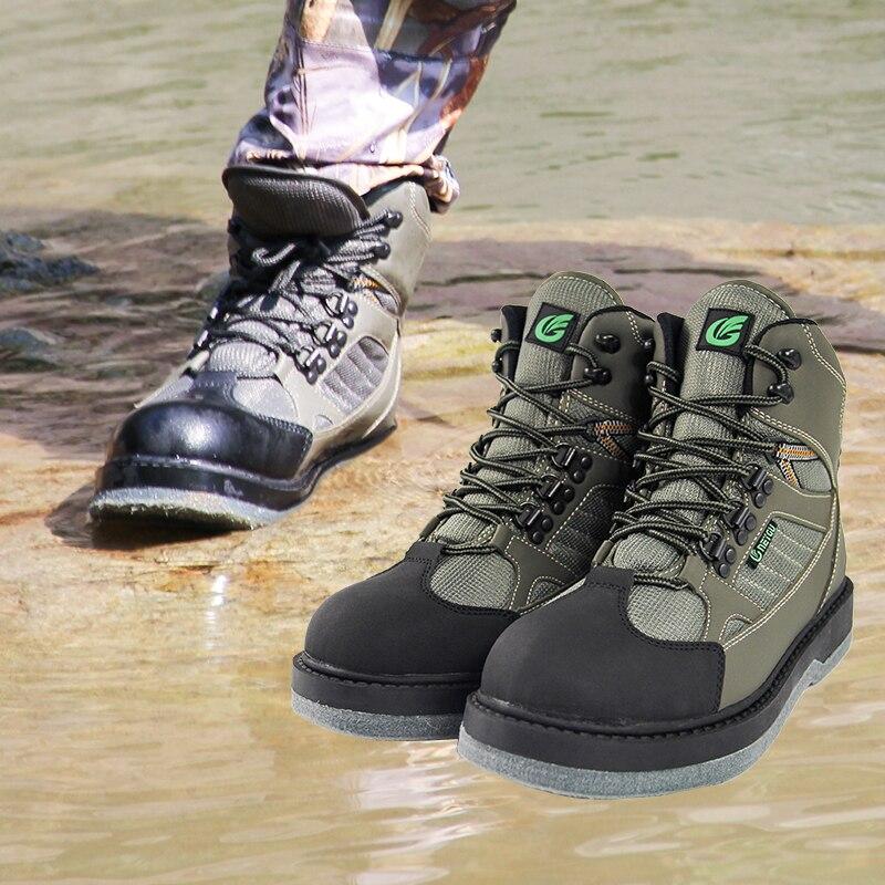 Дышащий Рыбная ловля болотная обувь, куликов обувь, Войлок Подошва Куликов сапоги, быстросохнущие сапоги рыбалка, обувь для охоты куликов