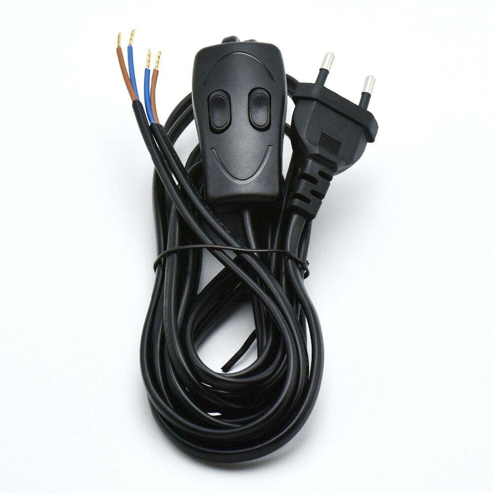 3,6 Mt/2,5 Mt Eurostecker Netzkabel CCC VDE Lampe Schalter Draht mit ...