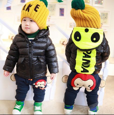 2017 New Retail Winter wadded jacket thickening outerwear child baby plus velet cotton-padded jacket children's clothing down