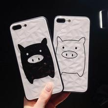 IMIDO New Pig Diamond Pattern TPU Silicone Cases For Huawei p20 pro mate20 Cute Cartoon Anti-fall Fashion