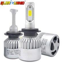LED H7 Фары для автомобиля 72 Вт 8000lm H4 H1 H3 H11 H13 9005 9006 9007 881 6500 К белый автомобиль светодиодные авто Передняя лампы автомобилей налобный фонарь
