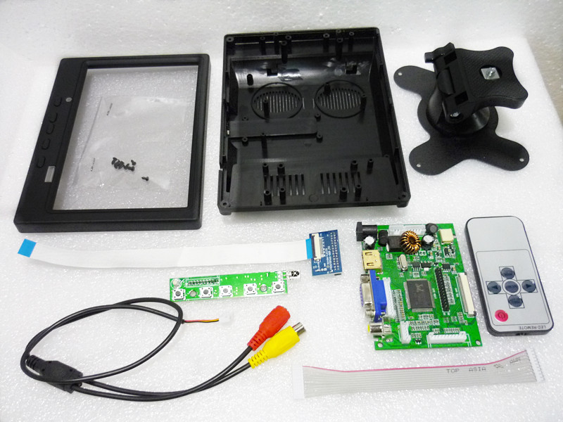 Plastic case for 7inch HSD070PWW1 1280 800 lcd HDMI VGA 2AV driver board RTD2660H Car rear