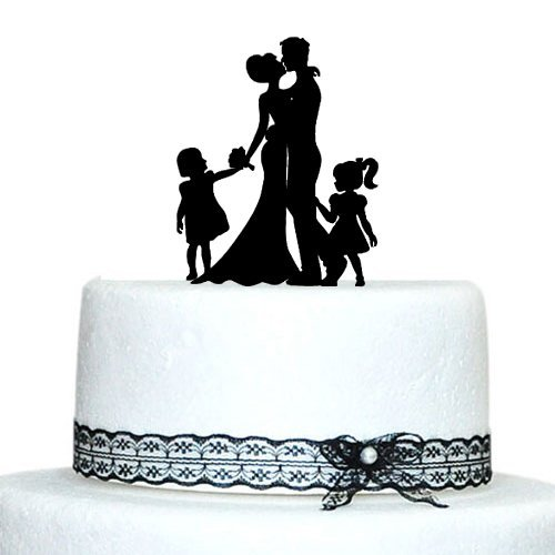 wedding cake toppers bride groom daughter aliexpress buy family wedding cake topper with 26425