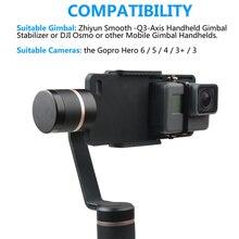 アクションカメラアクセサリースプリントマウント移動プロヒーロー6/5/4/3/3 + xiaomi dji osmo携帯ジンバルハンドヘルドホルダー黒