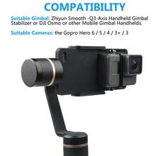 Actie Camera Accessoires Spalk Mount Voor Go Pro Gopro Hero 6/5/4/3/3 + Xiaomi Dji osmo Mobiele Gimbal Handheld Houder Zwart