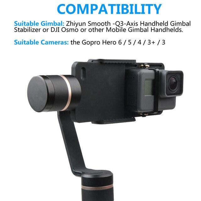 Action Camera accessories Splint Mount for go pro Gopro Hero 6/5/4/3/3+ xiaomi DJI Osmo Mobile Gimbal Handheld Holder black