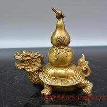 Poly Xiangge light copper dragon gourd decoration home feng shui enrichment Home Furnishing feng shui ornaments bin feng