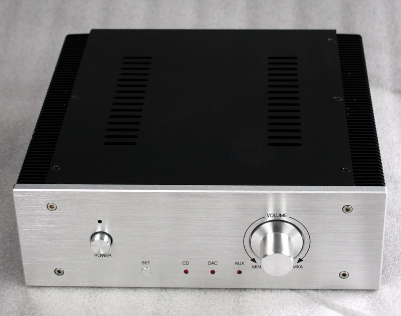WA17 Full Aluminum amplifier Enclosure/mini AMP case/ Preamp box/DAC Chassis(The radiator encryption tooth) 4309 blank psu chassis full aluminum preamplifier enclosure amp box dac case