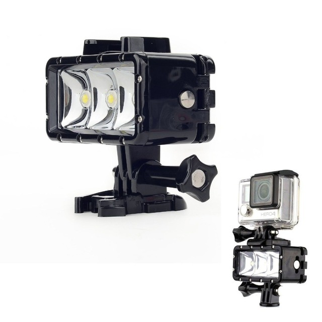 Accessories GoPro Underwater Light Diving Waterproof LED Video Battery Buckle Mount For Session