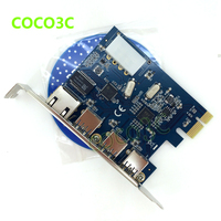 PCI-e to External 3 ports USB 3.0+ RJ45 Gigabit Ethernet Network card USB3.0 + 1000M LAN Port Combo PCI express card