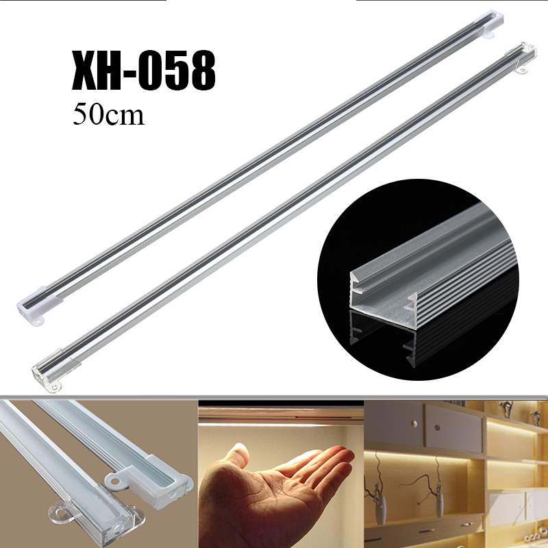 Smuxi 50cm XH-058 Aluminium LED Bar Light Channel Holder For LED Strip Light Bar Under Cabinet Lamp LED Bar Lights ...