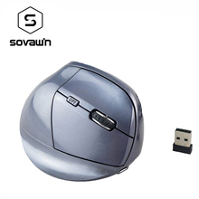 Rechargeable Optical Wireless 2.4G Vertical Mouse Ergonomic 6 Buttons 2400DPI Right Hand Gaming For Laptop Desktop Computer Mice(China (Mainland))