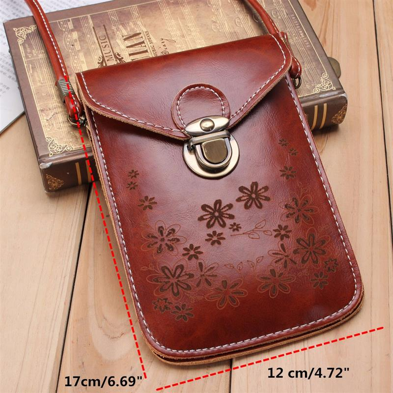 Small PU Leather Crossbody Handbag With Strap