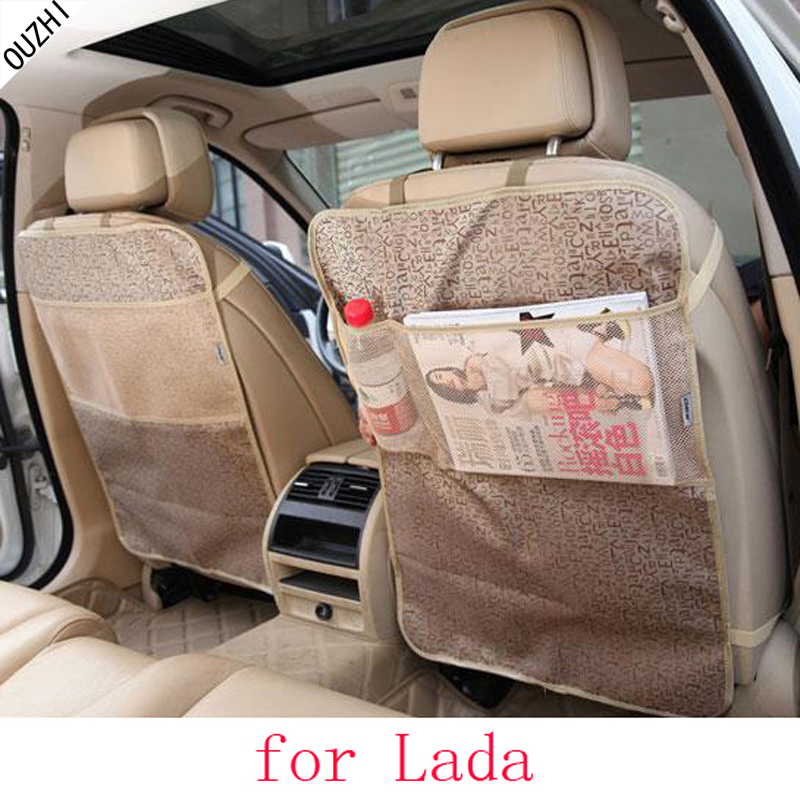 OUZHI For Lada Granta Largus priora kalina car seat covers baby Kick protector mats black waterproof car accessories interior