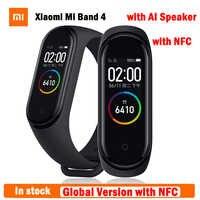 En stock Original Xiaomi mi Band 4 versión Global con NFC más reciente pulsera inteligente Xiaomi banda 4 Frecuencia Cardíaca Fitness pantalla de Color