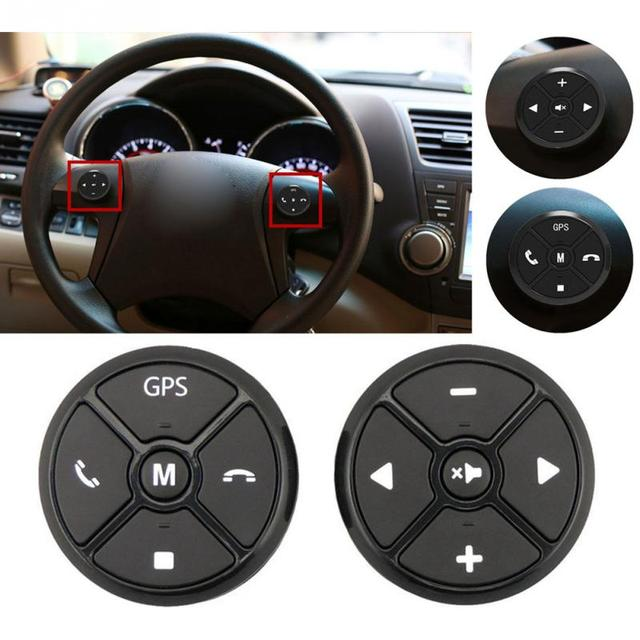 US $17 96 20% OFF|Universal Car Steering Wheel Control Key Music Wireless  DVD GPS Navigation Car Steering Wheel Radio Remote Control Buttons Black-in