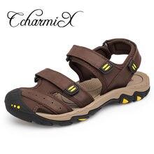 CcharmiX 2019 Men Sandals Outdoor Casual Summer Mens Roman Sandals Closed  For Men Beach Hiking Male Footwear Large Size 38-47 2bb3c1c965eb