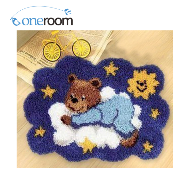 Bear Zd002 On Night Hook Rug Kit Diy Unfinished Crocheting Yarn Mat Latch In From Home Garden Aliexpress Com Alibaba Group