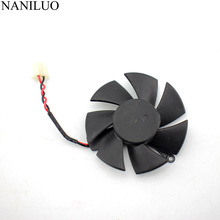 Diameter 45mm 2pin R5 230 R7 250 R7 240 GPU VGA cooler graphics Card cooling Fan For XFX R7-240/250 R5-230 Video cards Cooling видеокарта asus r7 240 2gb r7240 2gd3 l
