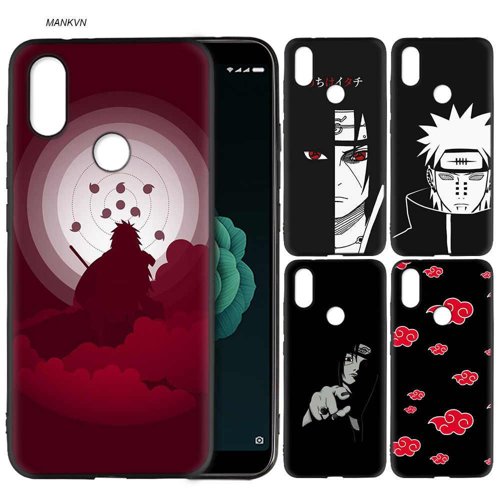 Silicone macio caso capa para xiaomi a2 lite a1 redmi s2 nota 5 plus 6 6a 4 4x pro poco f1 japão desenhos animados naruto itachi kakashi