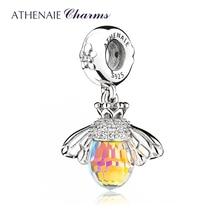 ATHENAIE Cổ Điển Mới Bạc 925 với Tinh Thể Ong Mặt Dây Chuyền Vòng Cổ phù hợp với Vòng Tay Vòng dành cho Nữ Trang Sức Phụ Kiện