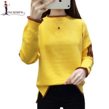 Autumn Winter Sweaters Women Pullover 2018 New Korean Warm Sweater Fashion Slim Round neck NO637