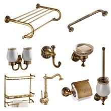 Colección de latón tallado titular de papel de accesorios de baño de productos de baño montado en la pared de latón set de accesorios de baño