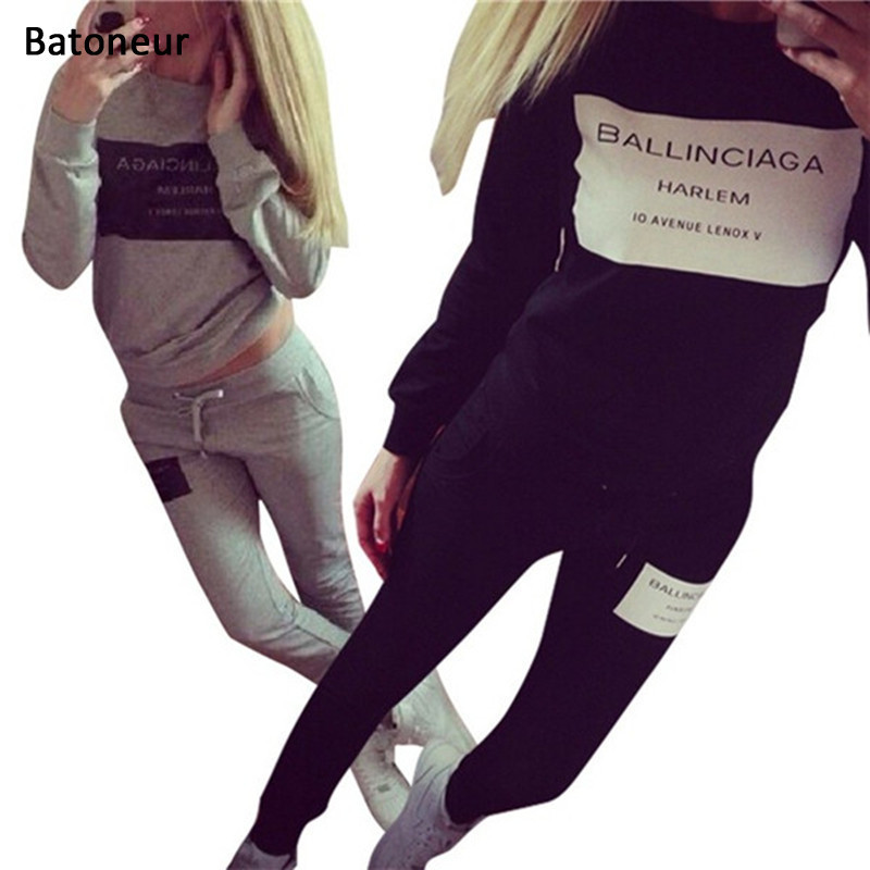 Tracksuit Women Suit Hoodie Sweatshirt+Pant Femme Marque Survetement Sportswear 2pc Set  ...