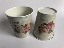 10 pièces/lot D11xH12.5CM fer Vase pot de fleur planteur mariage décoration Europe étain baignoire 1958 fleurs