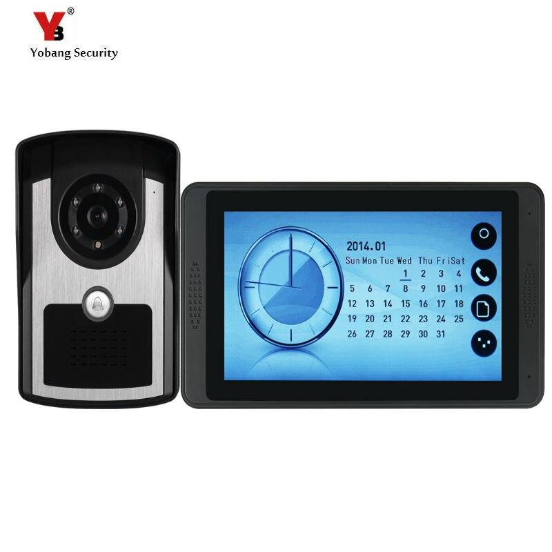 Yobang Безопасность Видео домофон Handsfree ночного видения дверь камера колокол цветной сенсорный монитор 7 дюймов громче динамик видео Interco - Цвет: 620FC11