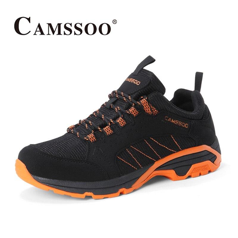 2018 Camssoo Для мужчин s прогулочная обувь из дышащего материала свет Вес спортивная обувь походная обувь цвет: черный, синий для Для мужчин; Бесп...