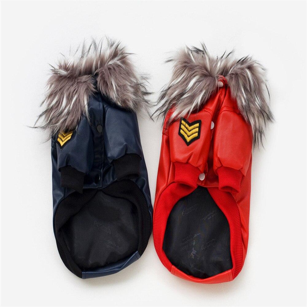 Leather jacket for dogs - Wa01 Pet Leather Jacket For Dog Clothes Pet Dog Coats Jackets Winter Warm Dog Clothing Coat