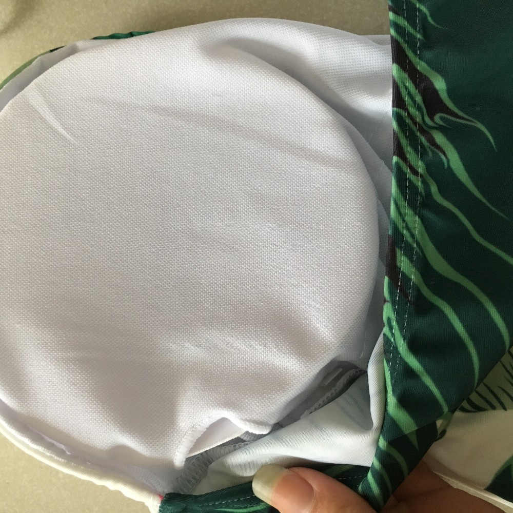 Нов зелен лист печат дълбоко V едно - Спортно облекло и аксесоари - Снимка 6