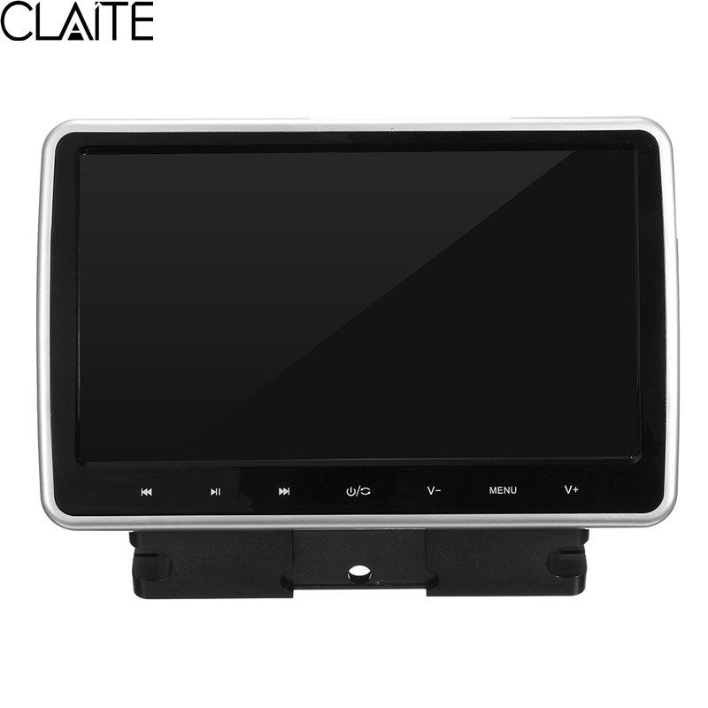 Prix pour Claite haute qualité 10 pouce portable voiture dvd lecteur actif hd tactile appui-tête moniteur jeu poignée lcd