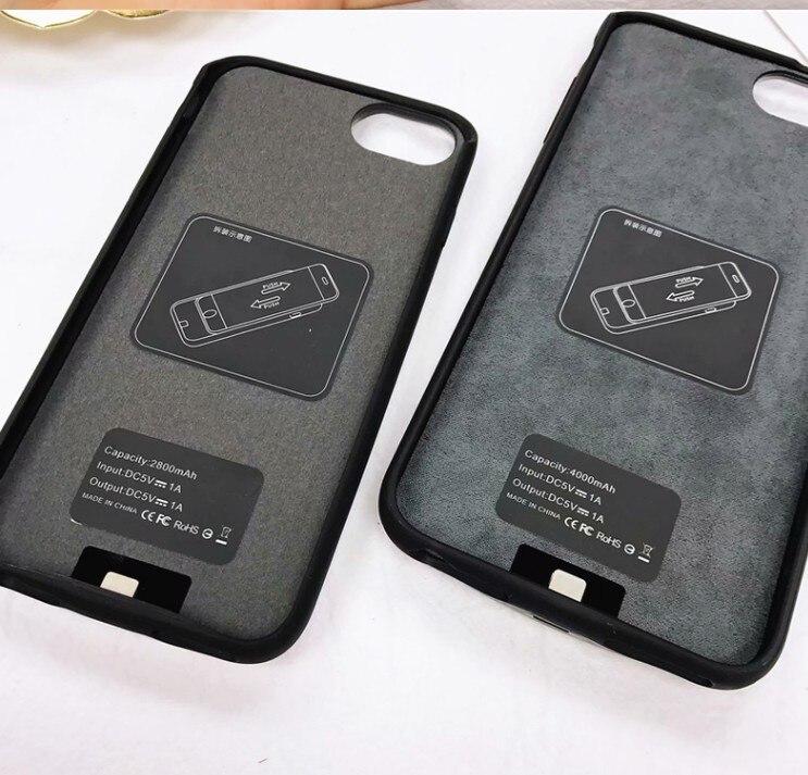 2800/4000 mAh chargeur de batterie étui pour iPhone 8 7 Plus 6 plus Mignon Mode batterie externe Externe De Sauvegarde De Charge Couverture Pour iPhone 8