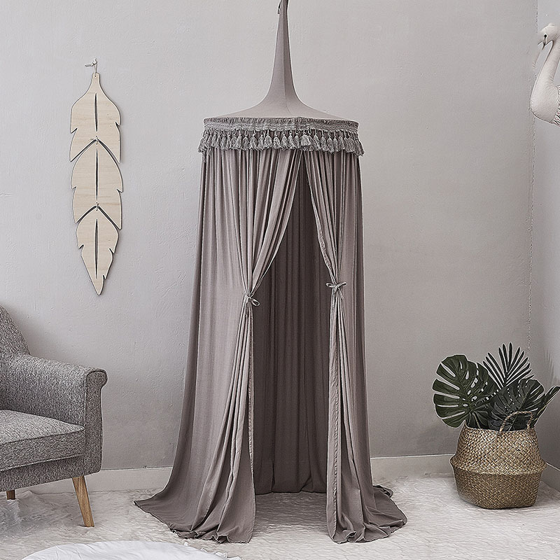 Nordic Childrens Room Dome Tassel Bed Valance Soft Cotton Bedroom Wall Hanging Decoration Mosquito netting Crib Tent Bed Mantle