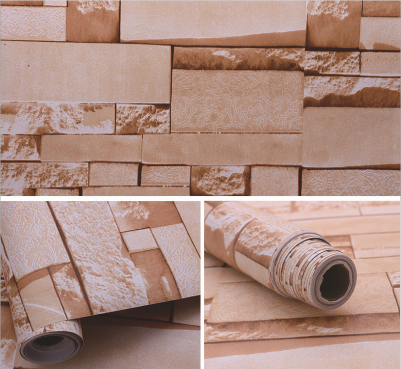 3d Self Adhesive Brick Wallpaper Design Roll Size Waterproof For Living Room Bedroom Tv Background Wall Decoration Sticker Film Wallpapers Aliexpress
